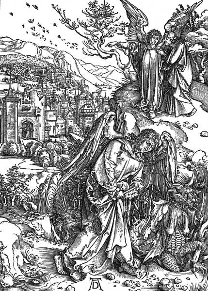 Albrecht Durer, St John is shown the New Jerusalem 1498