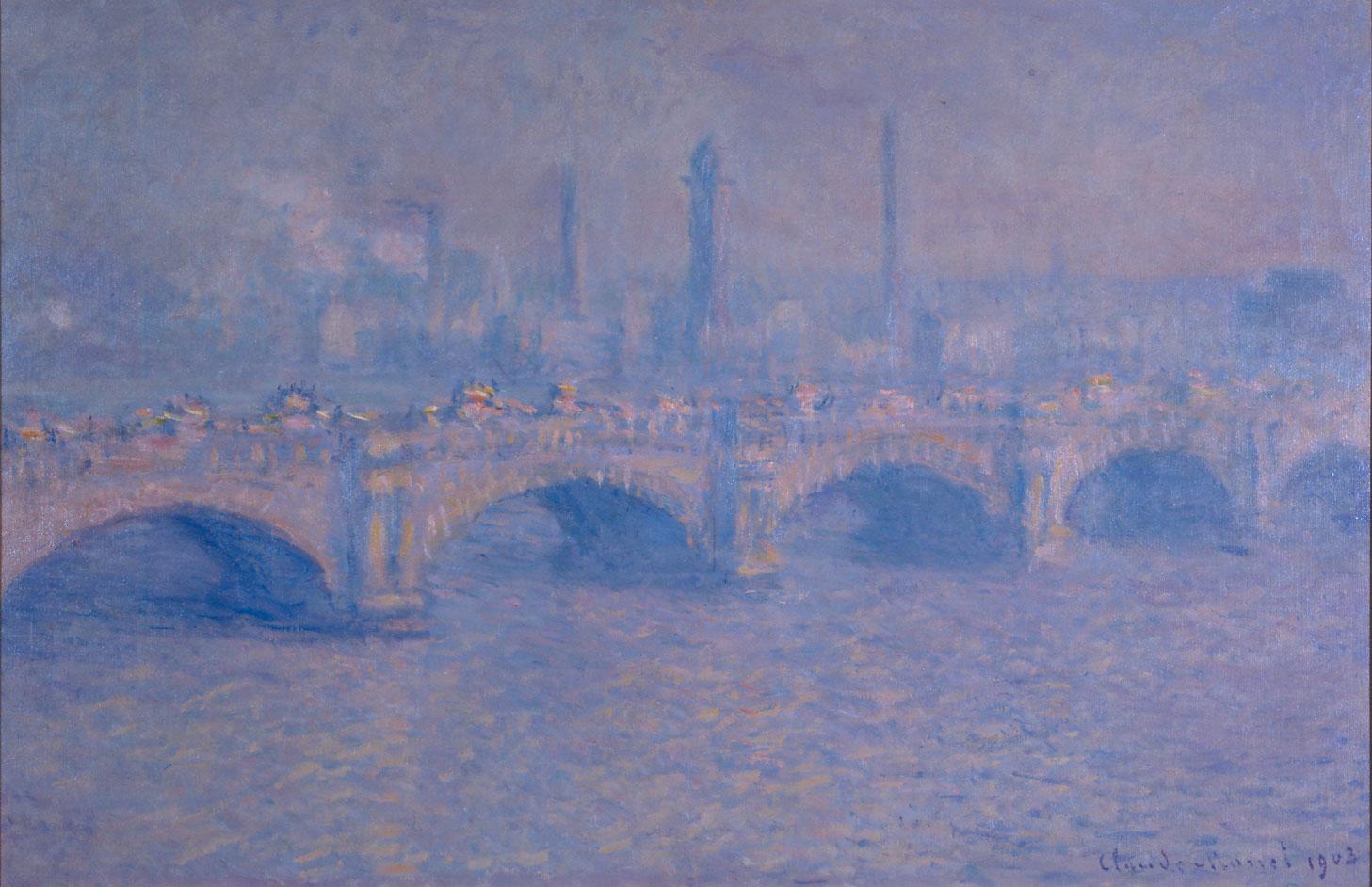 Impressionist Painting of Waterloo bridge