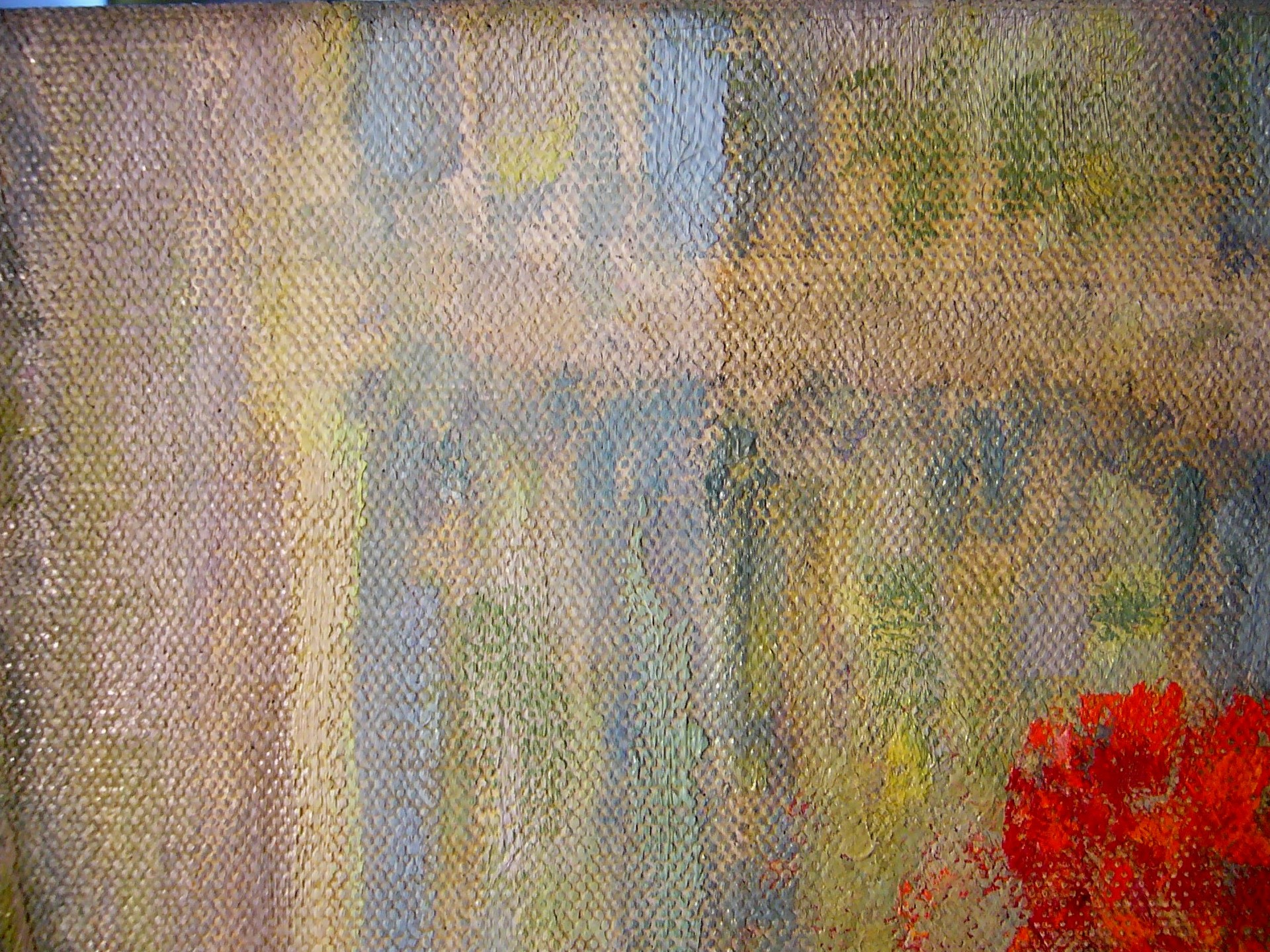 close up of painting being conserved