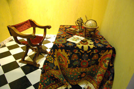 photograph of recreated historical European room