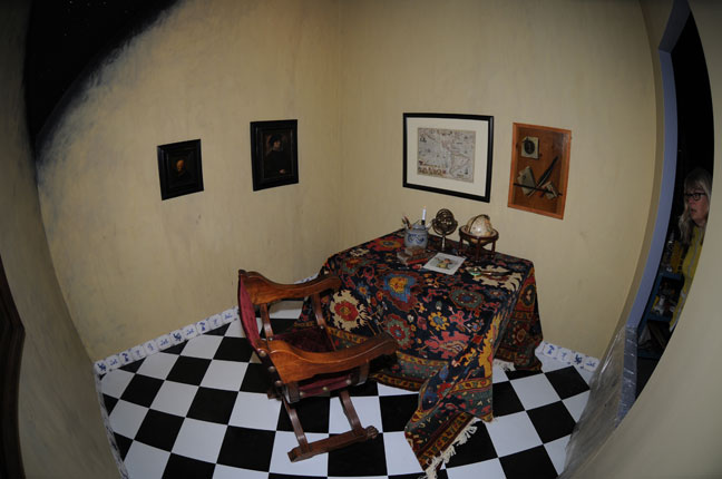 fish eye lens photograph of historical European room