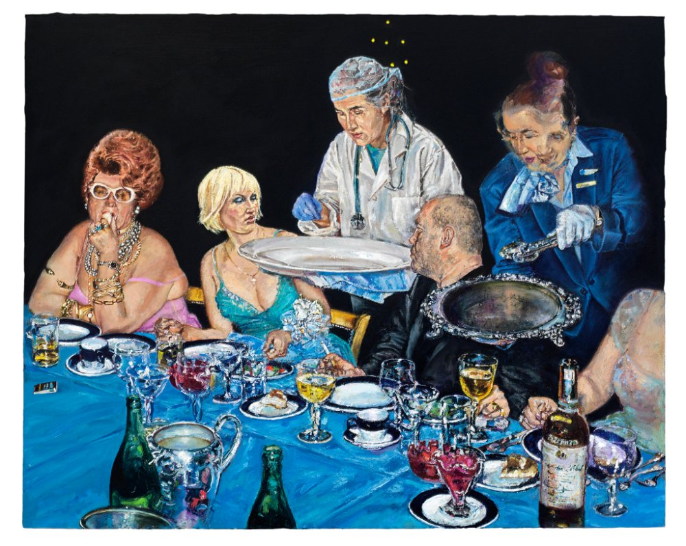 "Natalka Husar, ""Looking at Art"", oil, 2009, Donald Murray Shepherd Trust Purchase for McMaster Museum of Art collection"