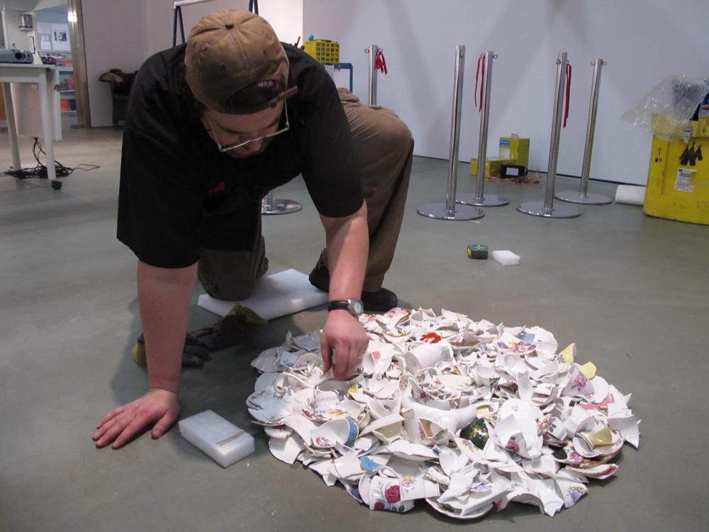 Installing Dana Claxton's work