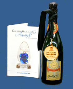 card and wine bottle