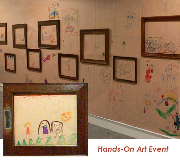 framed children's art