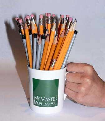 mug full of pencils