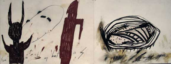 detail of contemporary art showing abstract forms