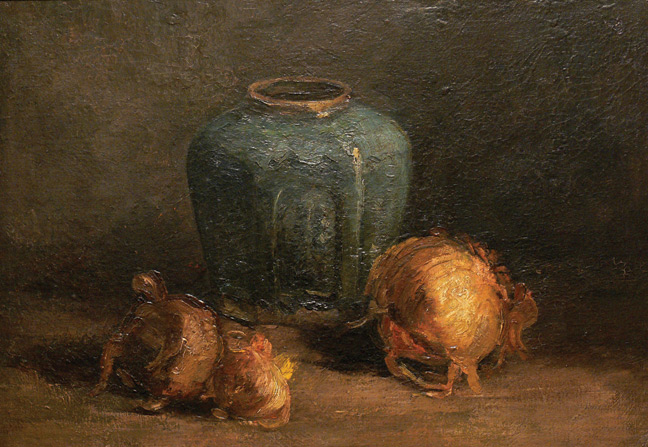 Vincent van Gogh, Nature Morte / Still Life With Ginger Jar and Onions, 1885, Gift of Herman Levy, Esq., O.B.E. , 1984. Collection of McMaster Museum of Art, McMaster University