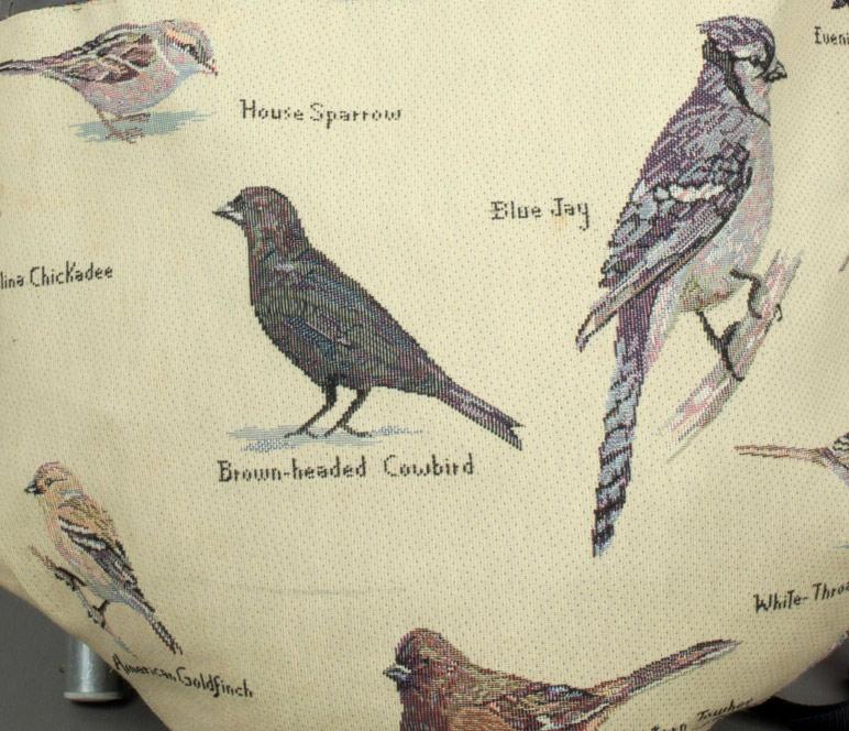 Detail of birds on Susan Detwiler's 'Seedpack', 2005