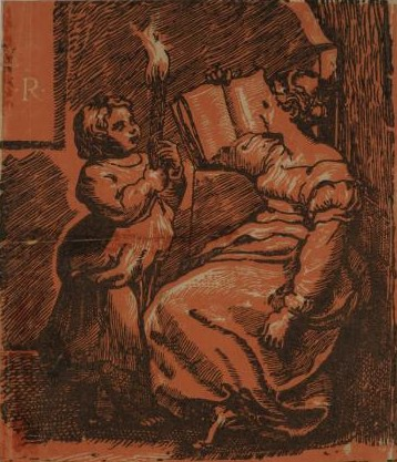 Unknown Artist (after Ugo da Carpi), A Sibyl Reading a Book, 16th century woodcut