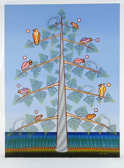 Blake Debassige, West Nile Virus, 2006, Ojibway, born 1956, acrylic on canvas, Gift of Dr. Paul R. MacPherson