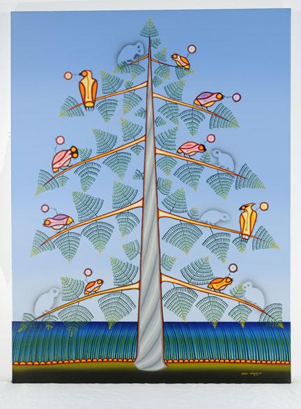 Blake Debassige, West Nile Virus, 2006, Ojibway, born 1956, acrylic on canvas, Gift of Dr. Paul R. MacPherson