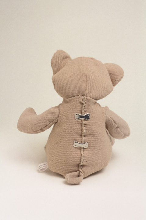 Michelle Bellemare, Tensor Teddy, 2002, tensor bandages, tensor clips, Collection of Olga Korper