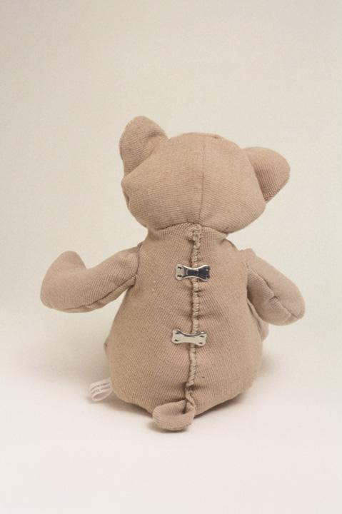 Michelle Bellemare, Tensor Teddy, 2002, tensor bandages, tensor clips, Collection of Olga Korper