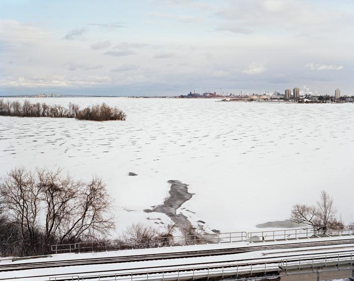 Hamilton Harbour, Winter, 2014, digital chromogenic print. Photo courtesy of the artist