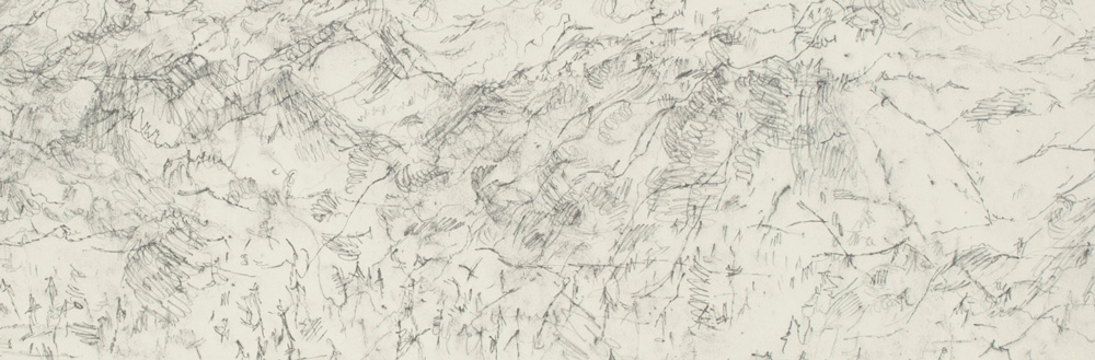 Ann Kipling, Falkland Landscape, September 12, 2004, 2004, Aquarelle pencil on paper