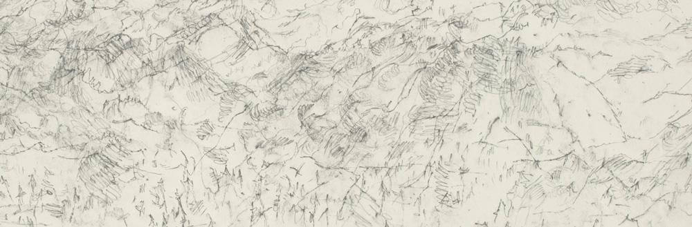 Ann Kipling, Falkland Landscape, September 12, 2004, 2004, Aquarelle pencil on paper