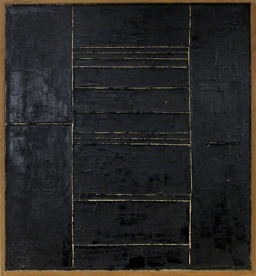 Kazuo Nakamura, Central Seven, c. 1961, Oil on canvas, Gift of John Hansler
