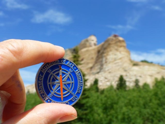 Lawrence Geocoin visits Crazy Horse