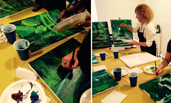 Leslie Furness leading Monet Painting Workshops