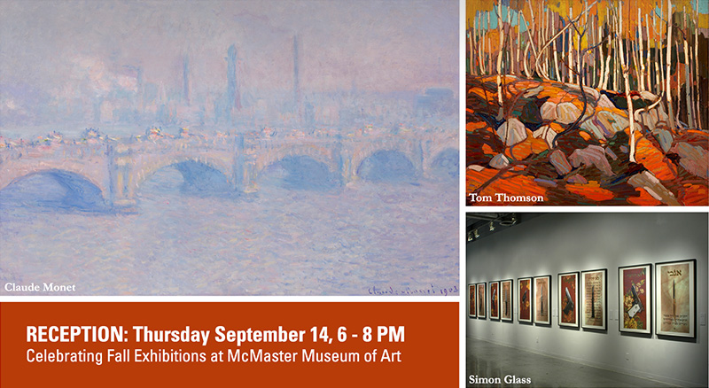 Public Reception Sept 14 at McMaster Museum of Art