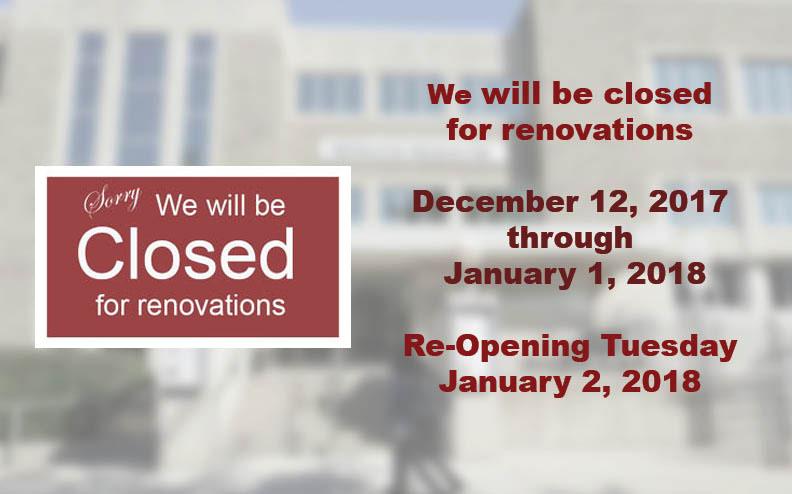 MMA closed Dec 12 - Jan 1