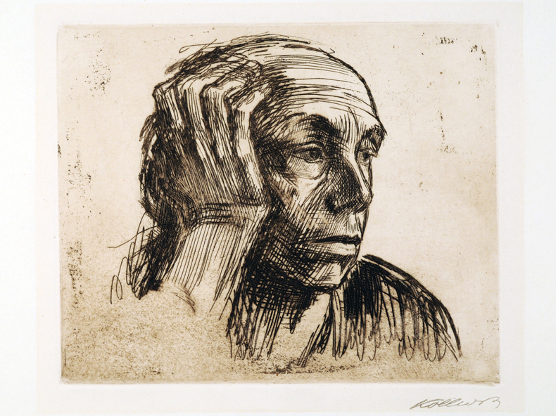 Image: Käthe Kollwitz (German, 1867-1945) Self-Portrait, 1921, etching, Collection of McMaster Museum of Art, McMaster University