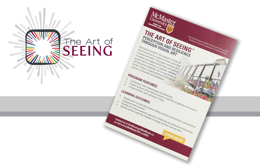 McMaster Museum of Art and Family Medicine's Program The Art of Seeing is now offered through McMaster's Centre for Continuing Education