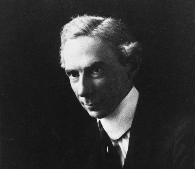 Detail of photograph of Bertrand Russell in 1916. Courtesy of the Bertrand Russell Archives, McMaster University Library