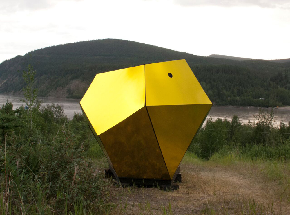 Kevin Schmidt and Holly Ward Eye of the Beholder camera obscura, 2015 View of installation near Dawson City, Yukon | McMaster Museum of Art Exhibition