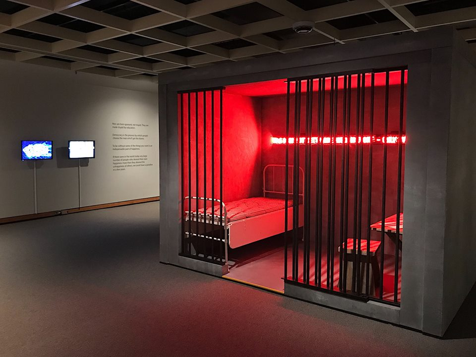 Bruce Barber: The Bertrand Russell Reading Room installation at McMaster Museum of Art, 2018