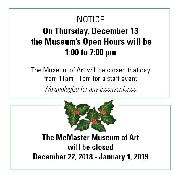 Museum hours in December 2018