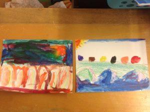 Art by primary students AM Cunningham. photo: teacher Kristen Cooper