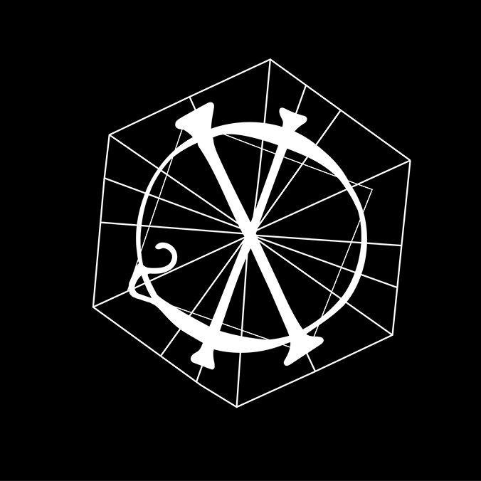 white quixotic logo on black background