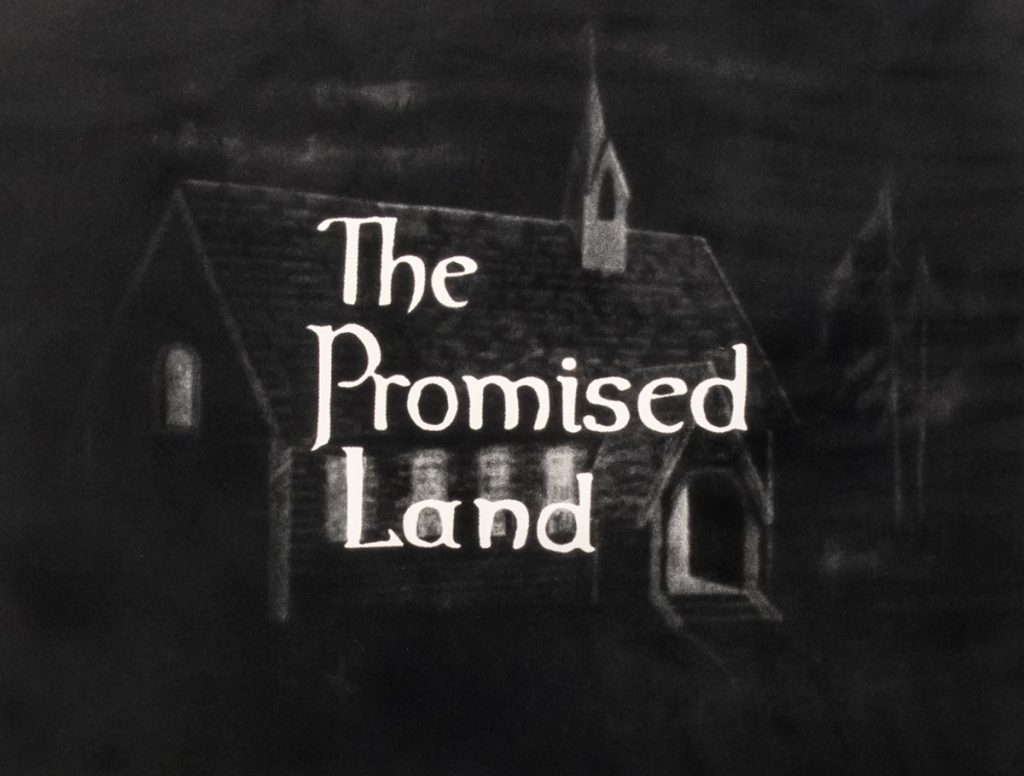 The Promised Land 2019 Flocked screen print 45 x 38 inches Edition of 3 with one AP