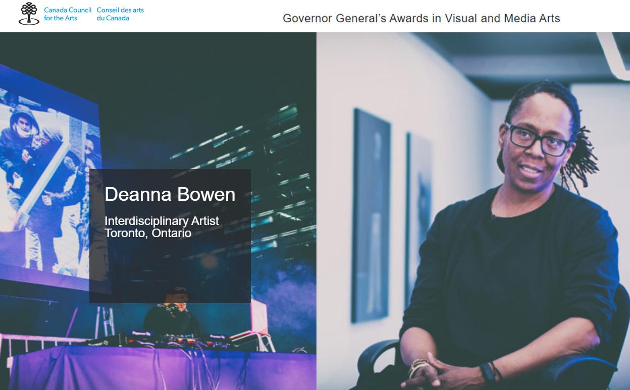 Deanna Bowen - 2020 #GGARTS Award winner