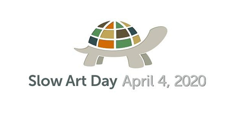Slow Art Day 2020 logo with turtle