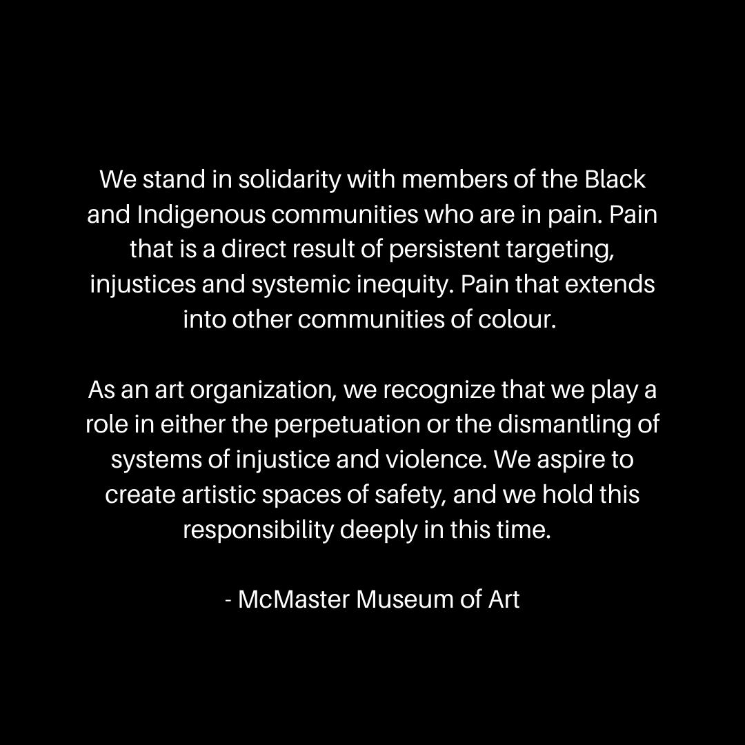 statement on black background