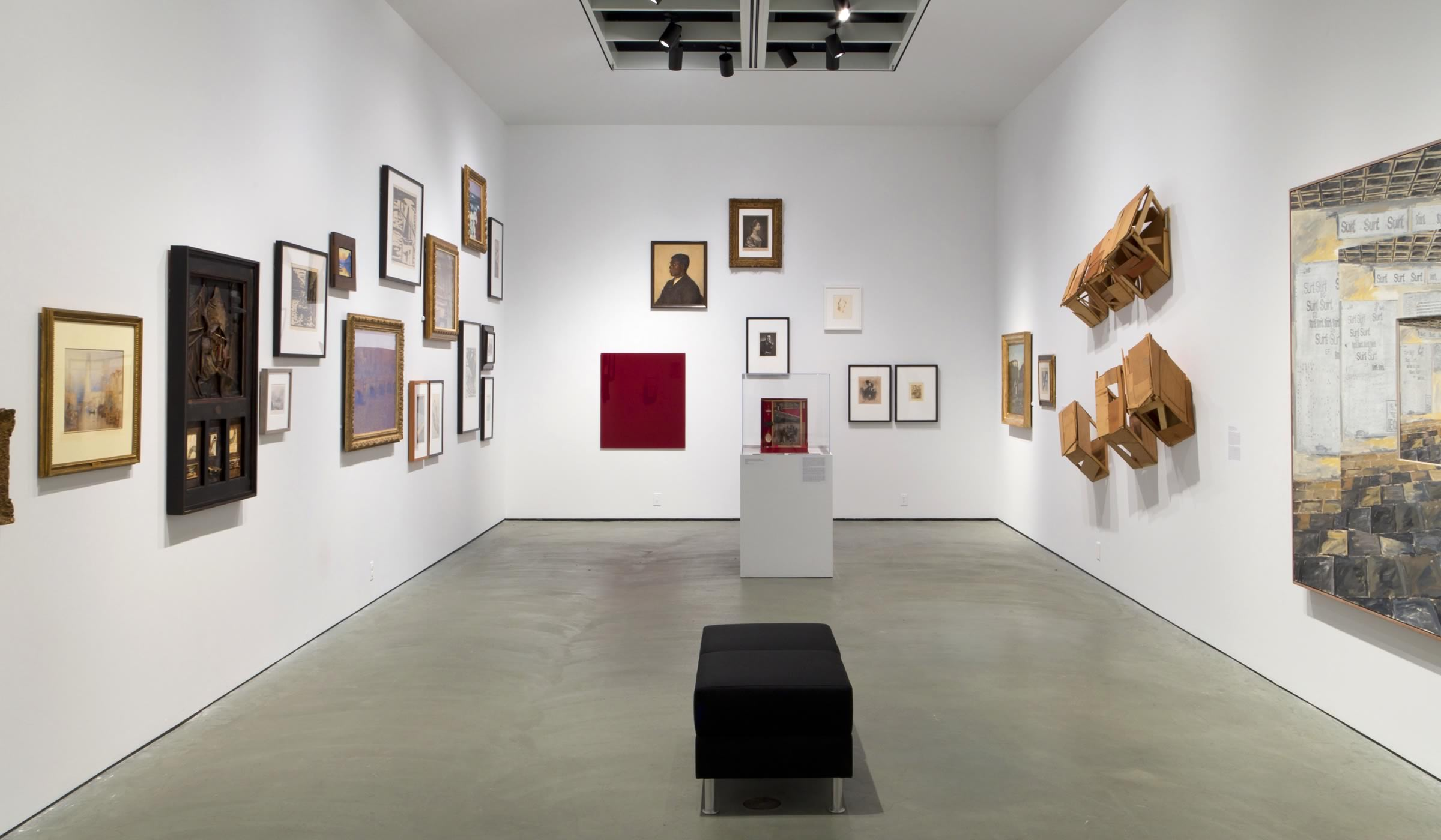 Installation view of the levy collection