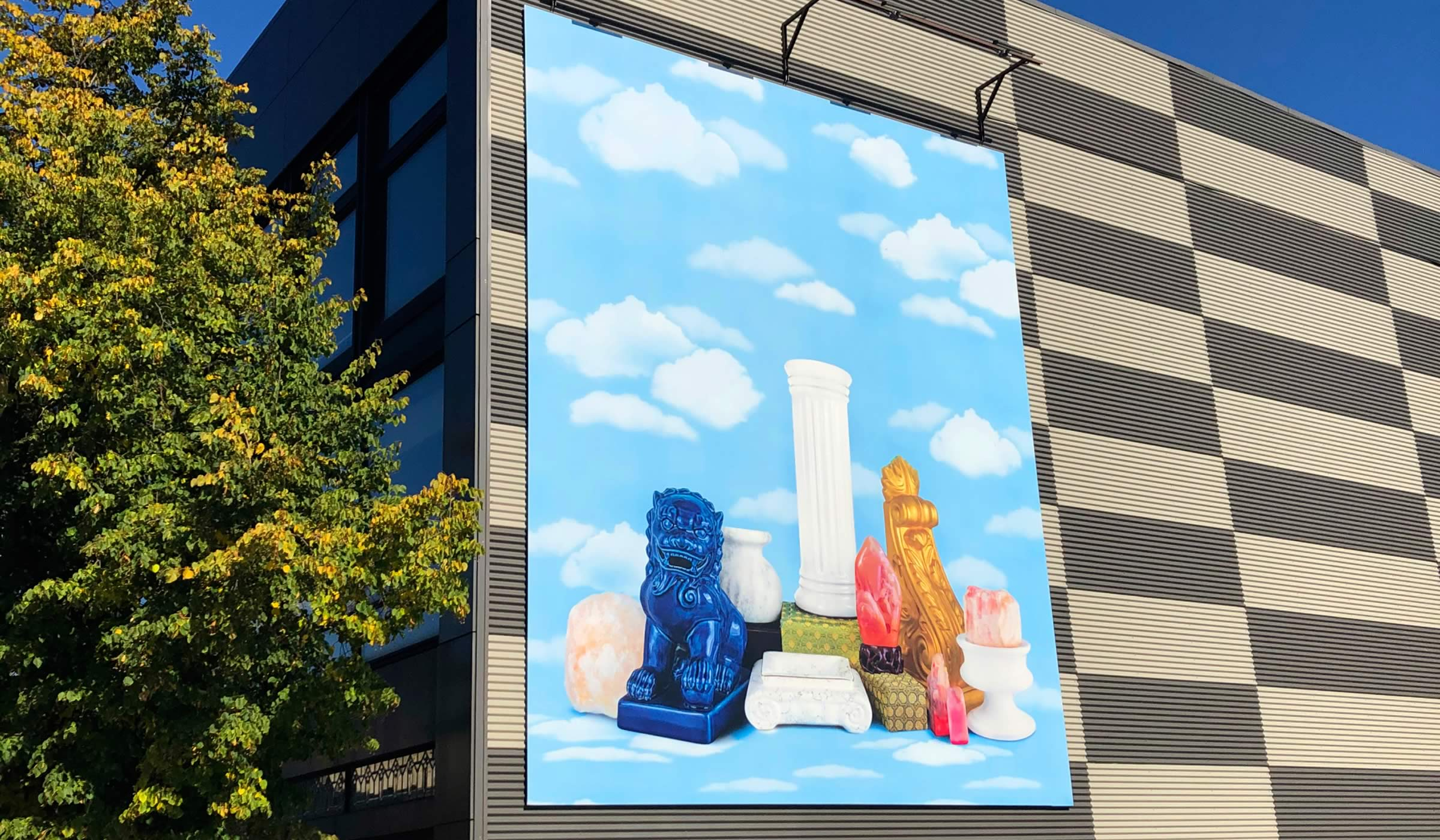 Art mural on Hamilton building