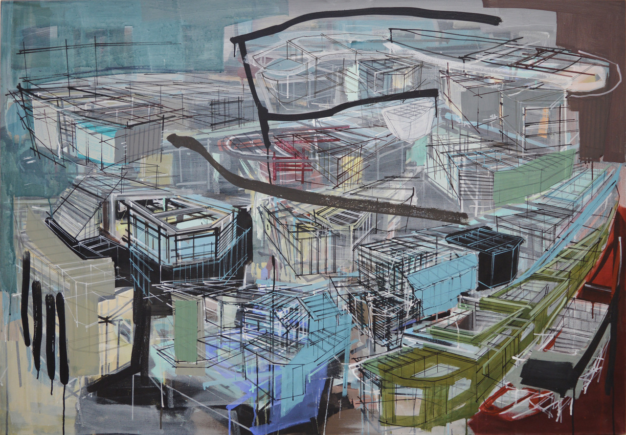 Abstract painting by Denyse Thomasos