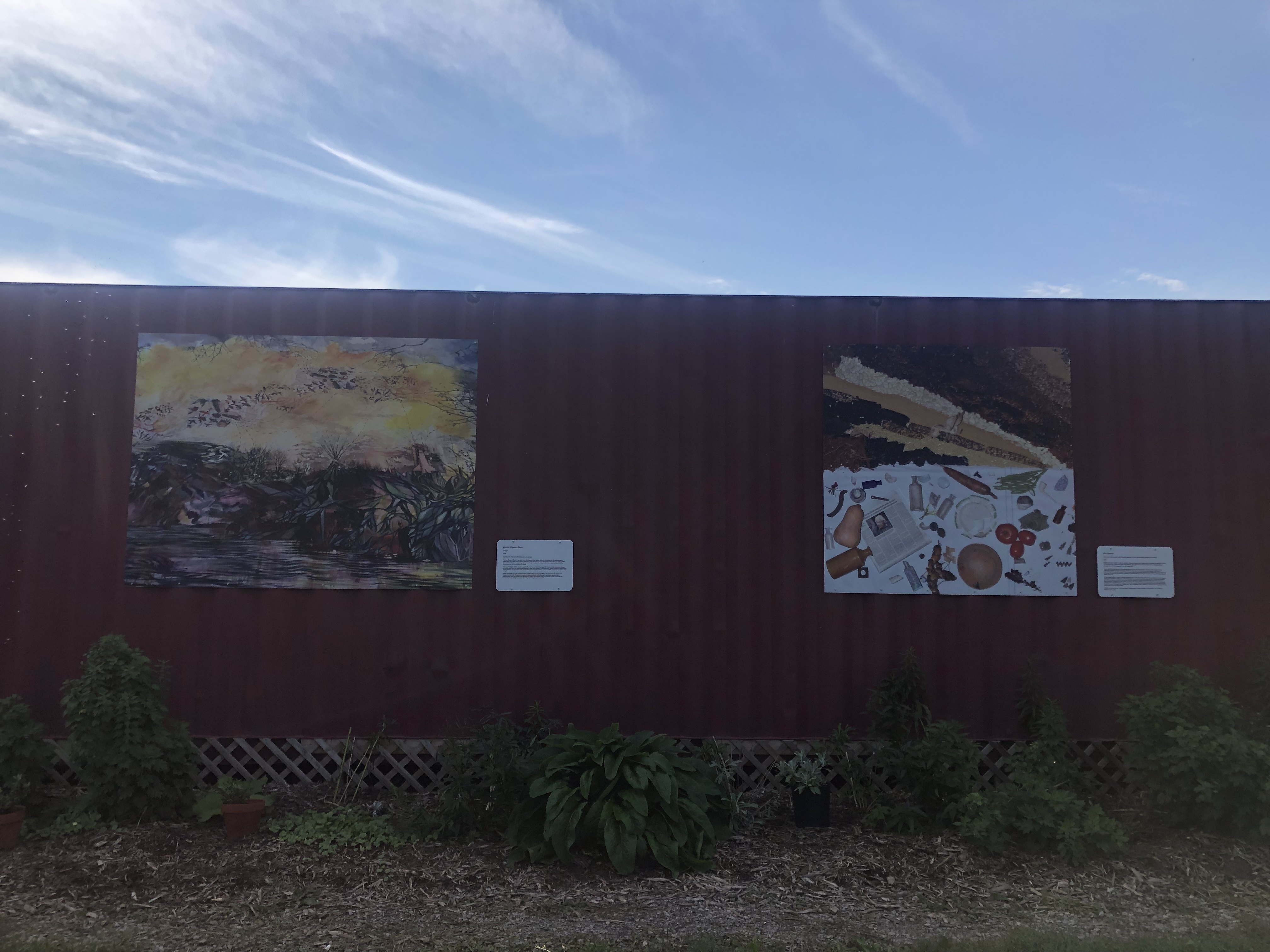 murals installed on shipping container