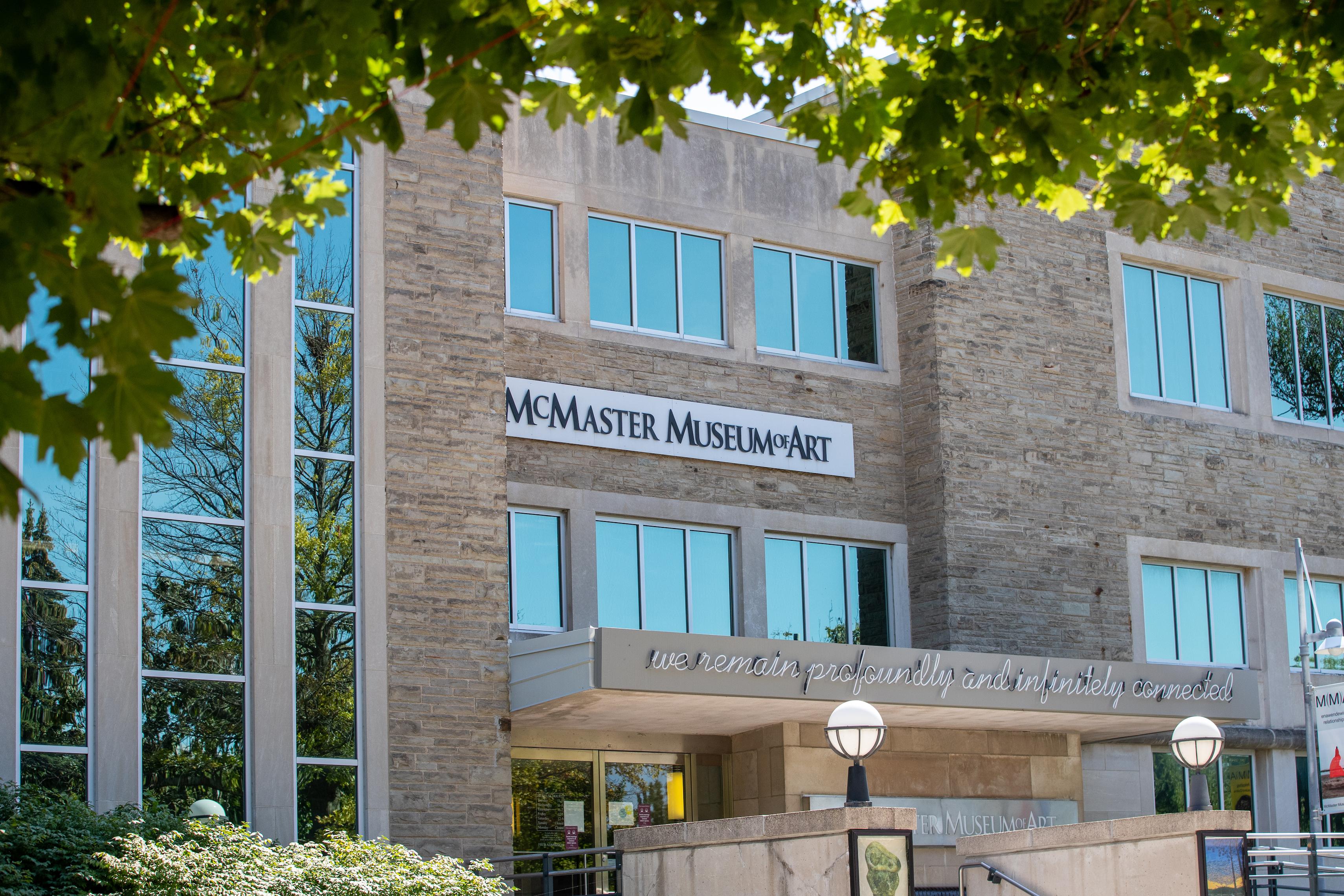 Museum facade in Summer